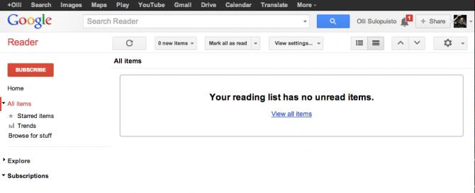 Google Reader: 0